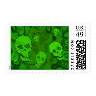 Skull Spectres postage stamp