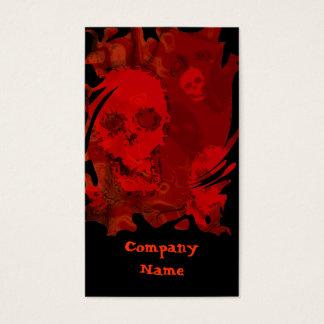 Skull Spectres Red business card black vertical