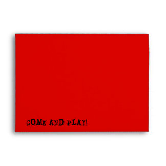 Skull Spectres Red  'Come and Play!' envelope