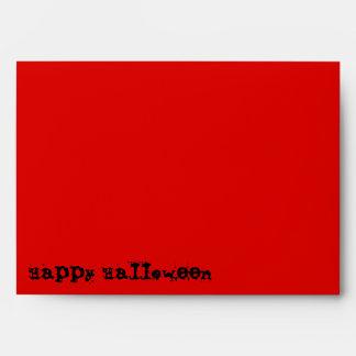 Skull Spectres Red  'Happy Halloween' envelope