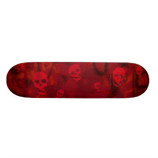 Skull Spectres Red skateboard