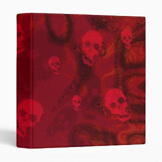 Skull Spectres Red (small skull) binder