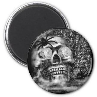 Skull-Spider and Rose-2012 Refrigerator Magnets