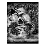 Skull-Spider and Rose-2012 Postcard