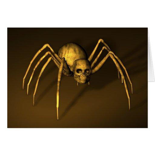 Skull Spider Card