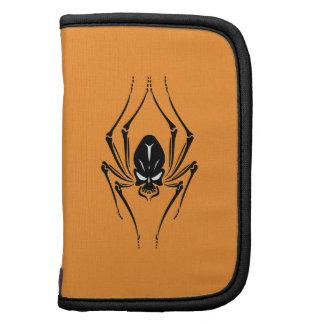Skull Spider on Orange Folio Planners