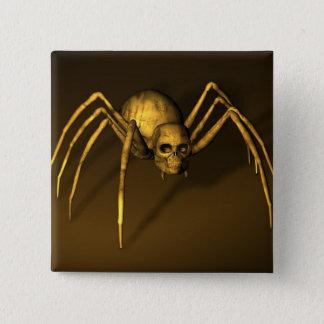 Skull Spider Pinback Button