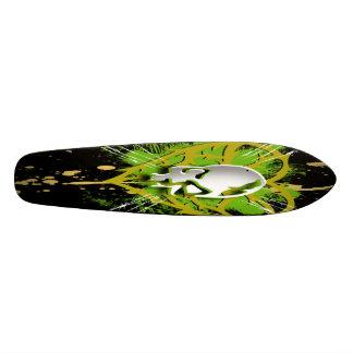skull splatter custom skateboard
