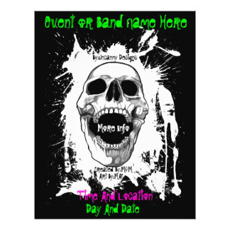 Skull Splatter Event Or Band Flyer