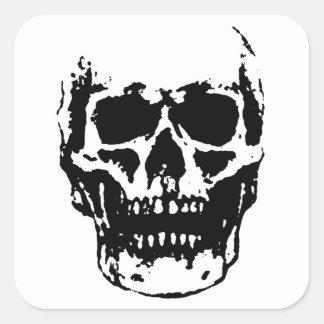 Skull Square Sticker