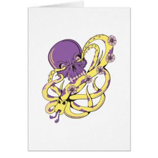 skull squid attack vector cartoon art cards