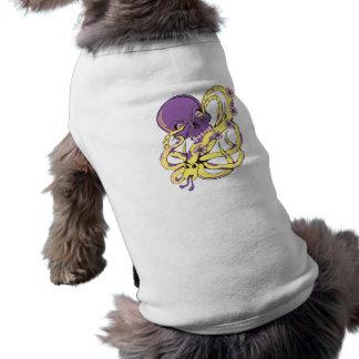 skull squid attack vector cartoon art dog tshirt
