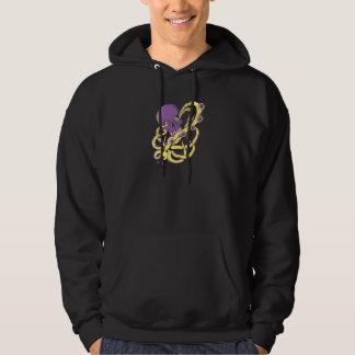 skull squid attack vector cartoon art hoodie