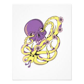 skull squid attack vector cartoon art custom invitation