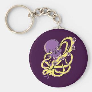 skull squid attack vector cartoon art key chains