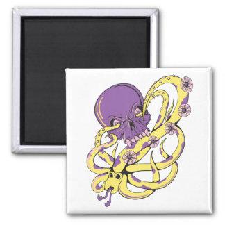 skull squid attack vector cartoon art refrigerator magnets