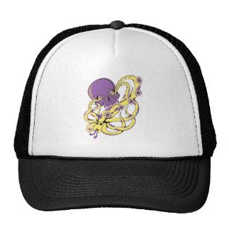 skull squid attack vector cartoon art mesh hat