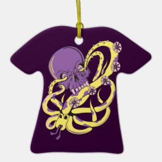 skull squid attack vector cartoon art ornament