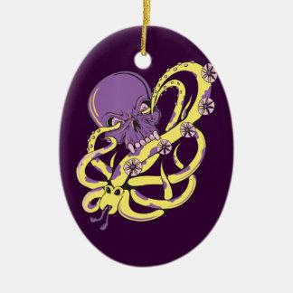 skull squid attack vector cartoon art christmas ornaments