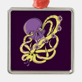 skull squid attack vector cartoon art ornaments
