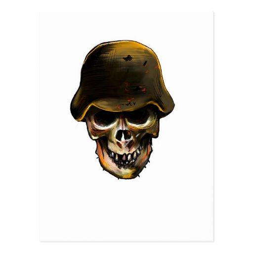 Skull Stalhelm Postcard