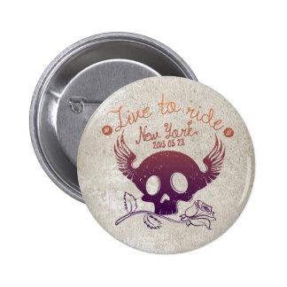 Skull, Standard, 2¼ Inch Round Button