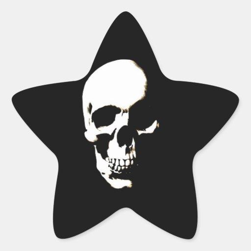 Skull Star Sticker