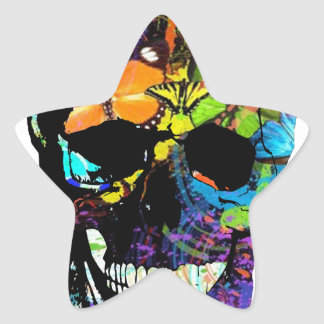 Skull Star Sticker