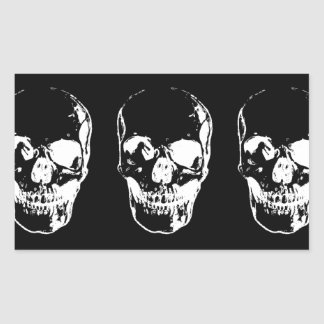 Skull Rectangle Stickers