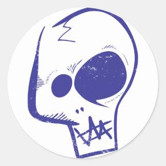 Skull Round Sticker