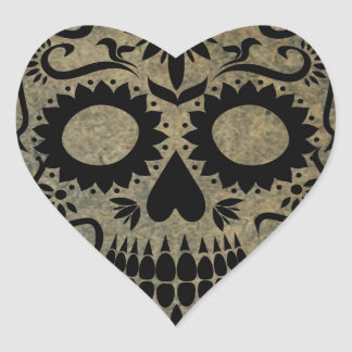 Skull Heart Sticker