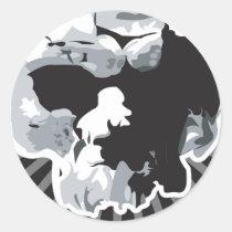 skull, artsprojekt, illustrations, spikelet, pictorial matter, Pittsburgh, pricker, United States, nontextual matter, poison, glochid, glochidium, aculeus, prickle, thorn, spine, bone, figure, graphics, picture, artwork, Sticker with custom graphic design