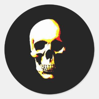 Skull Stickers: Fantasy Art  Rock Punk Classic Round Sticker