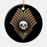 Skull & Sticks (Hockey) Ceramic Ornament