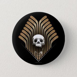 Skull & Sticks (Hockey) Pinback Button