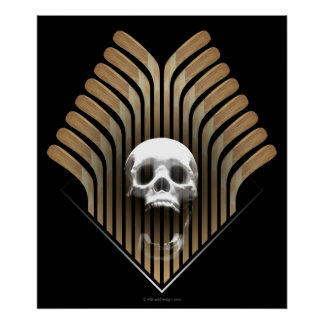 Skull & Sticks print