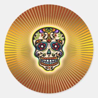 skull-strahlen.png classic round sticker