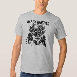 SKULL STRONGMAN Black Knights T-shirts