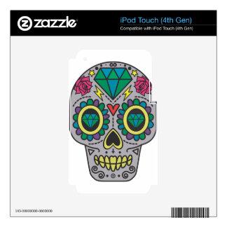 Skull Sugar Skull Diamond Flower Scary Of Colors iPod Touch 4G Skin