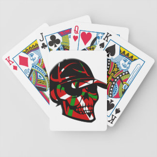 Skull surfer Basque Bicycle Playing Cards