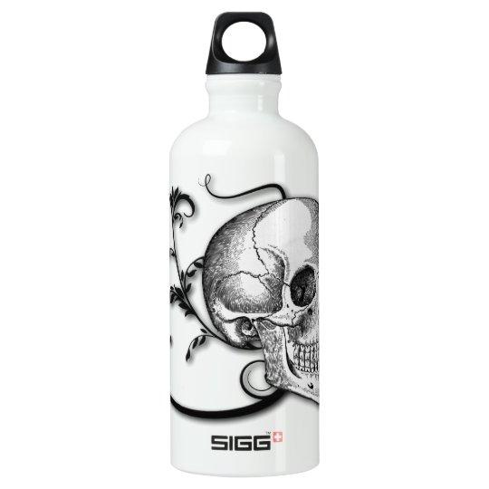 Skull & Swirls Aluminum Water Bottle