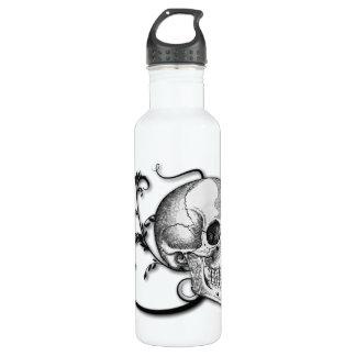 Skull & Swirls Water Bottle