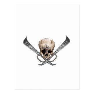 skull sword post cards