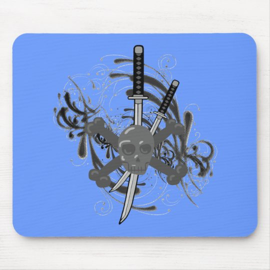Skull Swords Mouse Pad