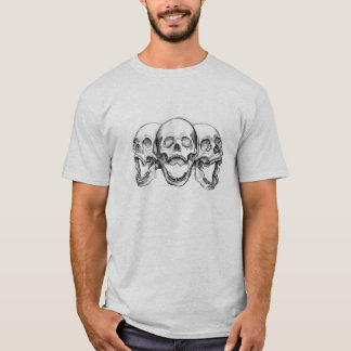 Skull T-shirt done in pencil by Jeff Oehmen