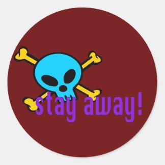 skull t shirt classic round sticker