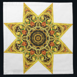 "Skull Tapestry Napkin<br><div class=""desc"">this design is my Skull tapestry Star,  it has several interesting geometric design elements and a vintage death art style. Sure to make a remarkable and unique napkin.</div>"