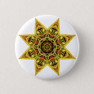 Skull Tapestry Star Button
