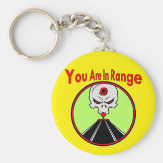 Skull Target You Are In Range Basic Round Button Keychain