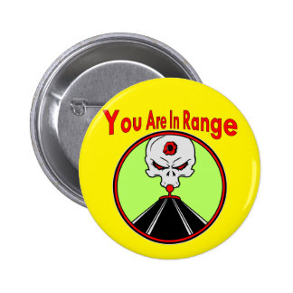 Skull Target You Are In Range 2 Inch Round Button